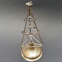 Pest-i ezüst ékszertartó, gyűrűfa  1823.