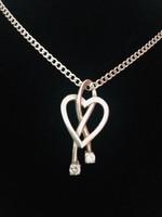Meseszép ezüst nyaklánc és medál