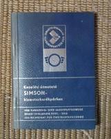 Simson motorkerékpár kezelési útmutató (motor, kismotor, 1974)