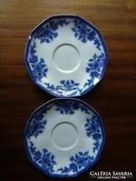 Kaiser kobaltkék díszítésű porcelán tányér csészealj, alátét pótlásra- 2 db egyben!