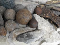 Középkori ágyú golyó vas 30mm ágyúgolyó múzeum nak