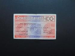 100 lira 1976 csekk Olaszország