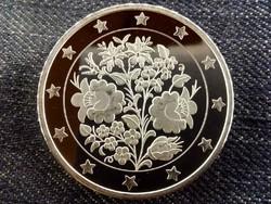 Gyönyörű színezüst 25 Euro tervezet/id 8500/