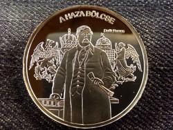 Nemzetünk nagyjai - Deák Ferenc színezüst tükörveret/id 8507/