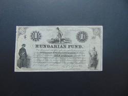 1 dollár 1852 Kossuth bank piros kézi sorszám !
