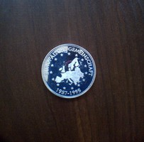 Ezüst érem, Erópai Unió. 50 Jahre Frieden sorozat. Tükörveret. 1999