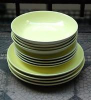 Retro 4 személyes sárga étkészlet - Gránit