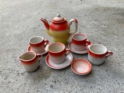 Antik porcelán baba játék