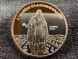 Nemzetünk nagyjai - II. Rákóczi Ferenc színezüst tükörveret/id 8509/