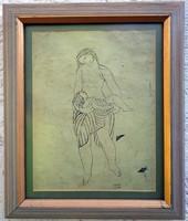 """Kádár Béla ( 1877-1956 ) """" Anya gyermekével"""""""