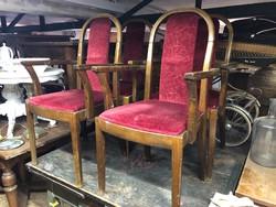 4 darab jó állapotú,kárpítozott karfás szék