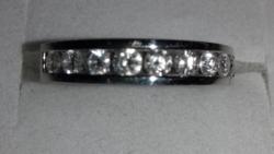 Platina gyűrű brillel certifikáttal
