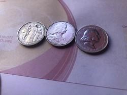 Pázmány ezüst 2 pengő sor,szép darabok