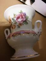 Hattyú füles kis váza , 9,8 cm-es, PM GDR