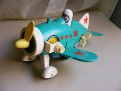 Orosz felhúzós műanyag  játék repülőgép
