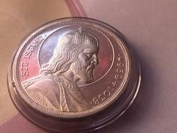 Szt István ezüst 5 pengő,gyönyörű darab kapszulában