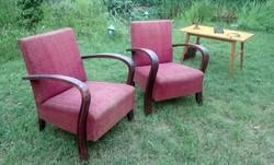 """Kb.1946ból Art deco szerű fotelek 2 db. felujitásra kreativ célra retro vintage """"9999forint a kettő"""""""