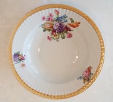 Régi porcelán rózsás fali tányér virágos tányér falitányér 23.5 cm