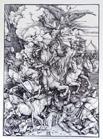 0W542 Dürer után : Az Apokalipszis négy lovasa