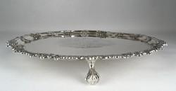 0U128 Antik sterling ezüst tálca 1050g 1763