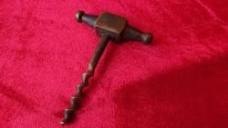 """Antik bronz """" kalapács """" dugóhúzó"""