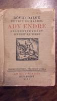 3 db. ritka Ady Endre kötet.