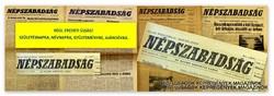 1971 május 7  /  NÉPSZABADSÁG  /  SZÜLETÉSNAPRA RÉGI EREDETI ÚJSÁG Szs.:  5231