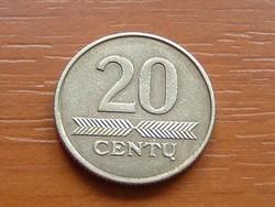 LITVÁNIA 20 CENTU 2008 #