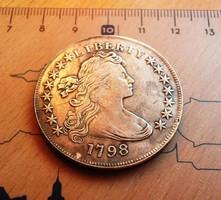 PATINÁS LIBERTY USA DOLLAR 1798 U.V.