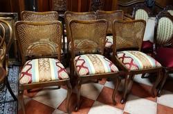 6 db felújított chippendale szék