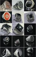 Férfi pecsétgyűrűk ónix kővel 925 ös ezüst
