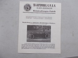 Autos katalogus Slaby-Beringer