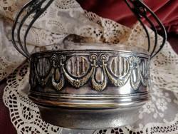 Szecessziós ezüstözött  kínáló
