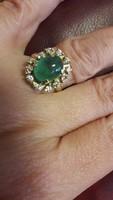 14K smaragd gyűrű brilliánsokkal