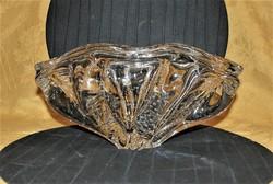 Súlyos Murano buborékos üveg tál asztalközép