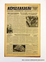 1981 május 7  /  NÉPSZABADSÁG  /  SZÜLETÉSNAPRA! RETRO, RÉGI EREDETI ÚJSÁG Szs.:  10771