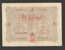 5 forint 1848.  GYÖNYÖRŰ!!  PIROS!!