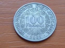 NYUGAT AFRIKA 100 FRANK FRANCS 2002