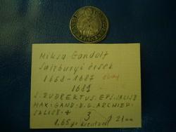 Salzburgi érsek ritka, 1631-es ezüst 3 krajcár