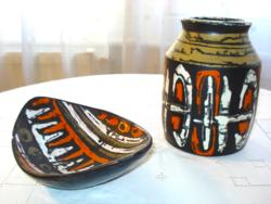 Gorka Lívia, kerámia váza és dísztál