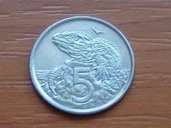 ÚJ-ZÉLAND NEW ZEALAND 5 CENT 2002 TUATARA (HIDASGYÍK) #