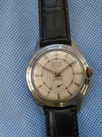 Vintage 50's SOLO French Made Chrome Plated Gents Mechanical Watch.