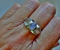 Szép art deco holdköves ezüst gyűrű