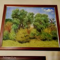 Corvus Kora Róbert eredeti keretezett olajfestmény