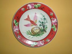 Kemény cserép kézzel festett fali tányér