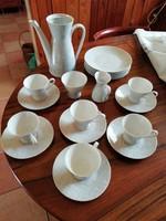 Rosenthal porcelán kávés, kapuccinós és süteményes készlet. Reggeliző készlet