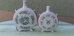 Hollóházi porcelán kulacsok