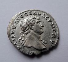 Trajan denarius - VESTA