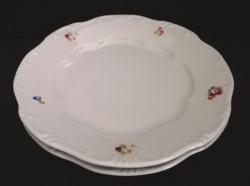 Régi jelzett apró virág mintás Zsolnay lapos tányér 2 db