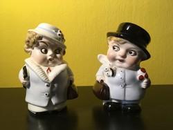 GDR figurális só-bors szóró párocska